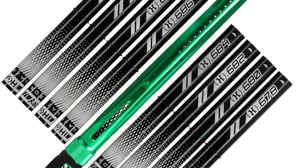 "HK LAZR Barrel Kit (15"")  Neon Green Autococker  Black inserts"