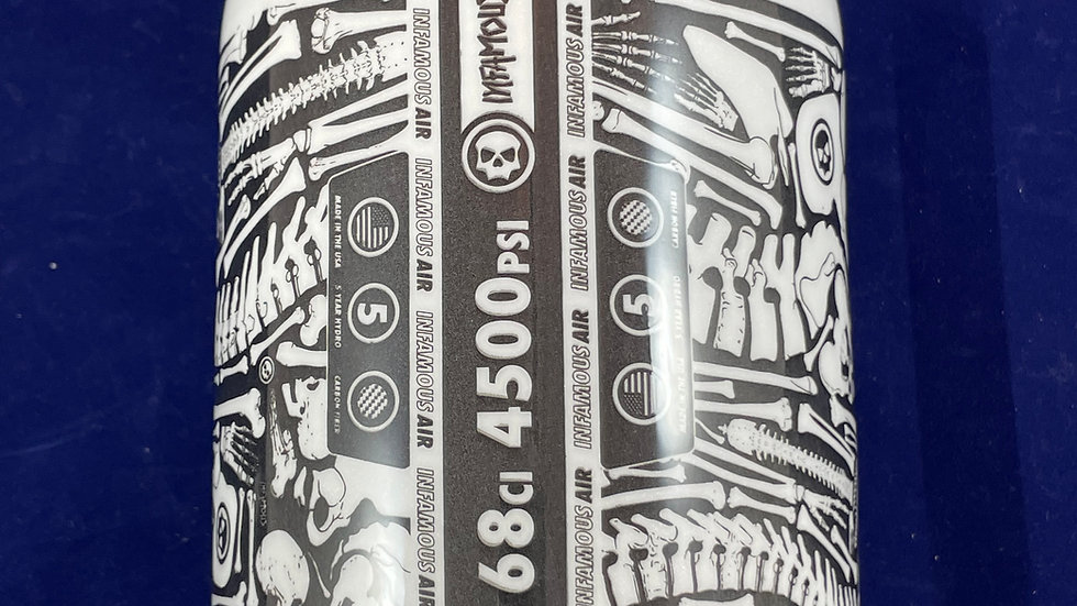 "Infamous ""Diamond Edition"" 68ci Tank Bones - White/Black"