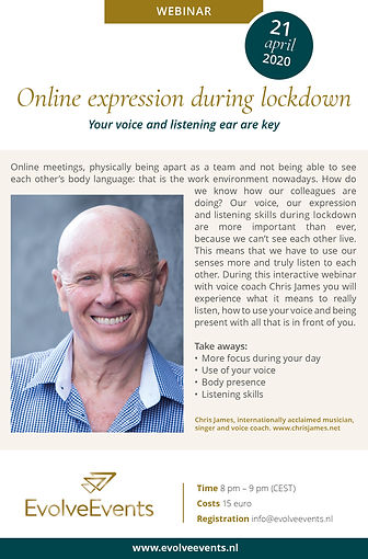 Webinar online expression during lockdow