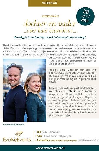 Flyer def interview met dochter en vader