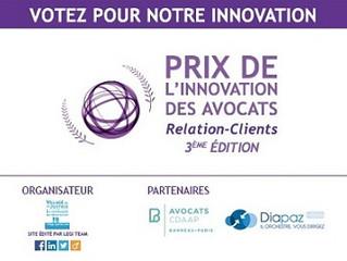 Le Cabinet d'Avocat d'ONORIO di MEO, sélectionné pour la finale du Prix 2016 de l'Innovation des Avo
