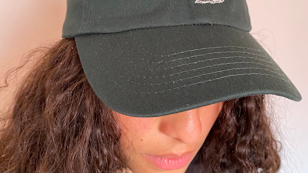 Embroidered Dad Hat- Forest Green