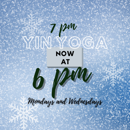 Yin Yoga at 6PM