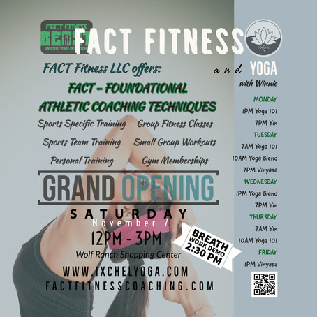 FACT Fitness GRAND OPENING 12-3PM Nov 6th