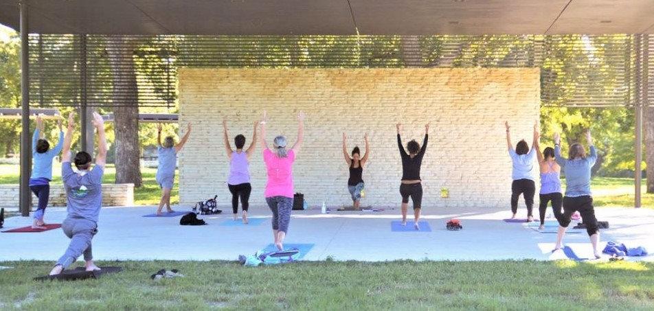 Yoga in the San Gabriel Park