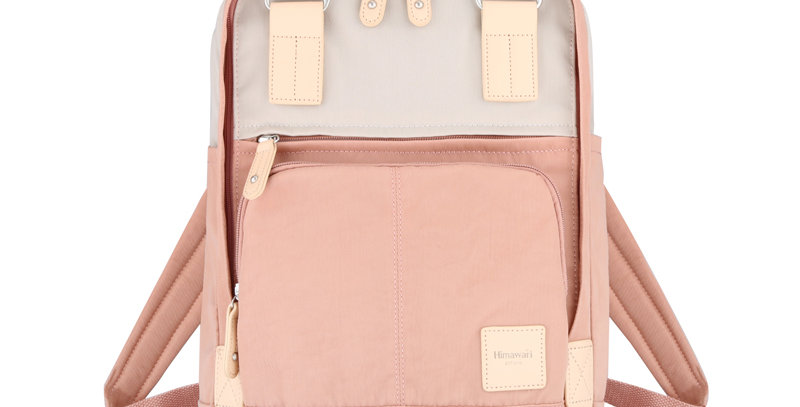"Himawari Daphne 13"" Laptop Backpack PB(187-01)-Cute Pink/Cream"
