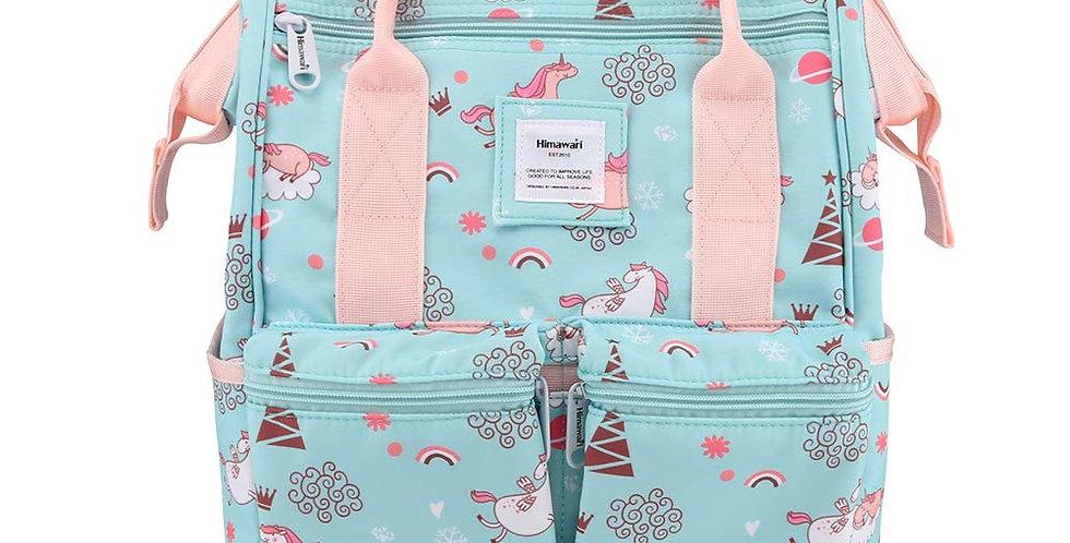 "Himawari Cypress 17"" Laptop Backpack(0602)-Aqua Unicorn"