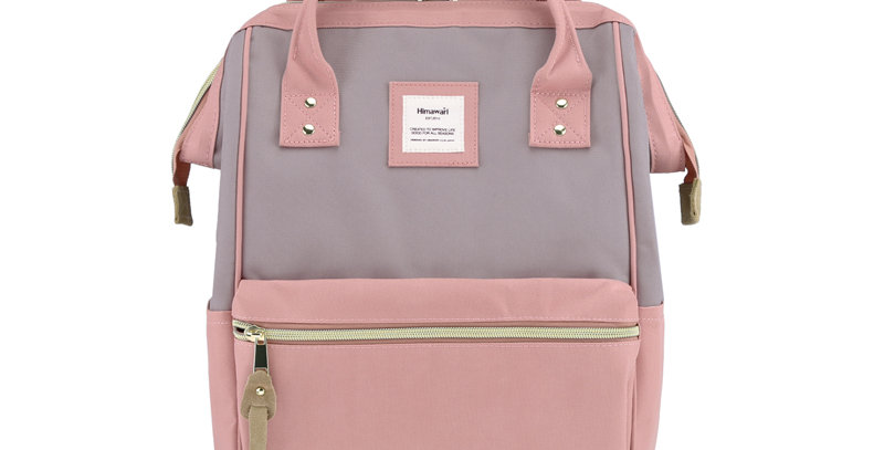 Himawari Holly Daze Backpack - Cute Pink/ Mocha