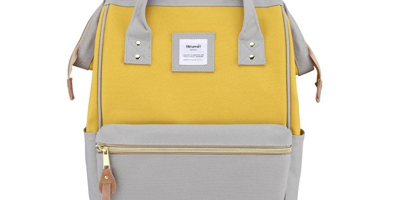 "Himawari Holly Daze 15"" Laptop Backpack(9001)-Gray / Yellow"