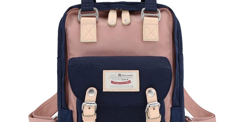 "Himawari Buttercup 11"" Laptop Backpack(HM188S-53)-Navy/Cute Pink"