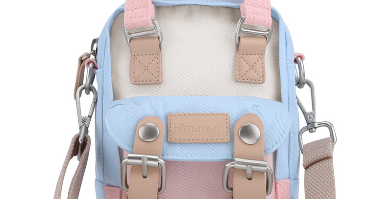 Himawari Buttercup Sling Bag(HM188XS-38)-Pastel Pink / Blue Cream