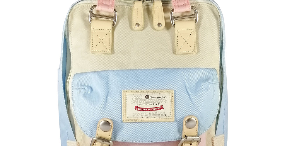 "Himawari Buttercup 11"" Laptop Backpack(HM188S-38)-Cream/Light Blue"