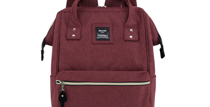 """Himawari Holly 15"""" Backpack(H900D)-Wine Red"""