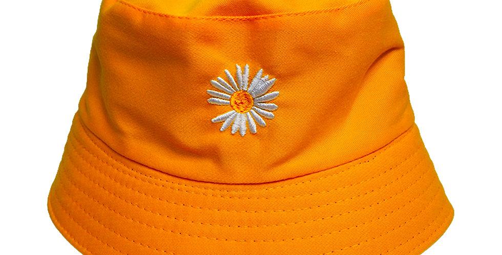 Reversible Bucket Hat Sunflower Embroidered Bucket Hat