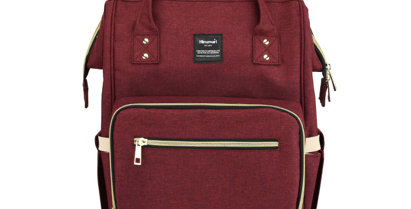 Himawari Carnation Diaper Backpack(1209)-Wine Red