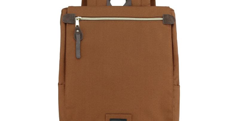 """Himawari Aster 14"""" Laptop Backpack(AT1112)-Coffee Brown"""