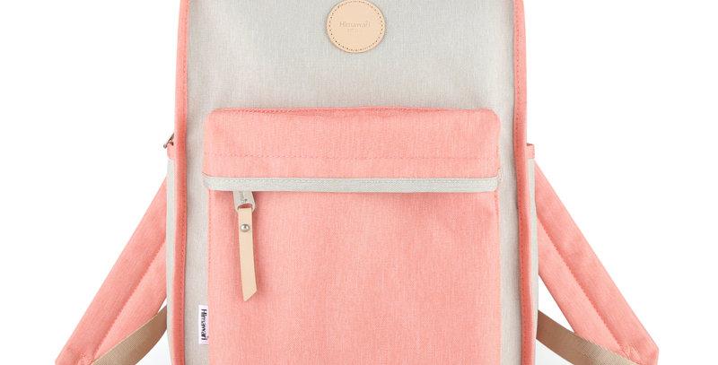 "Himawari Mallow 14"" Laptop Backpack(0827)-Coral/Gray"