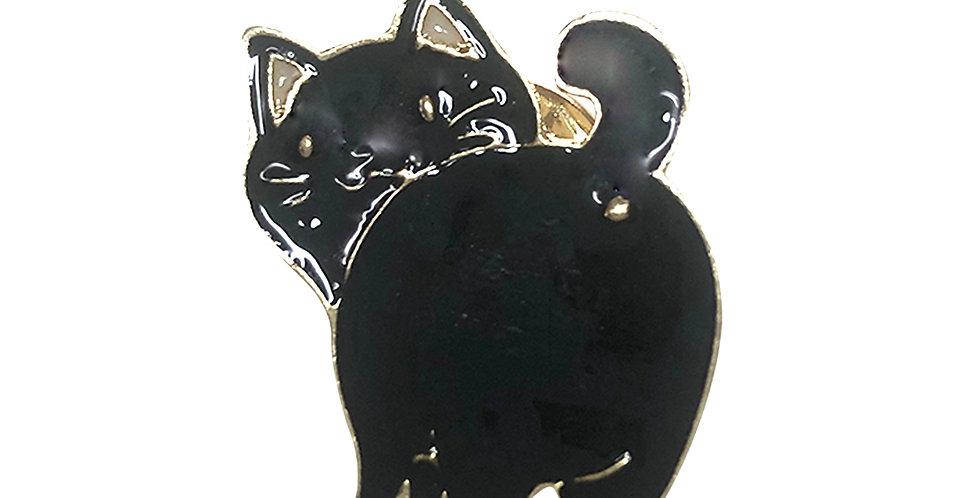 """Night Cat"" Bag Pin"