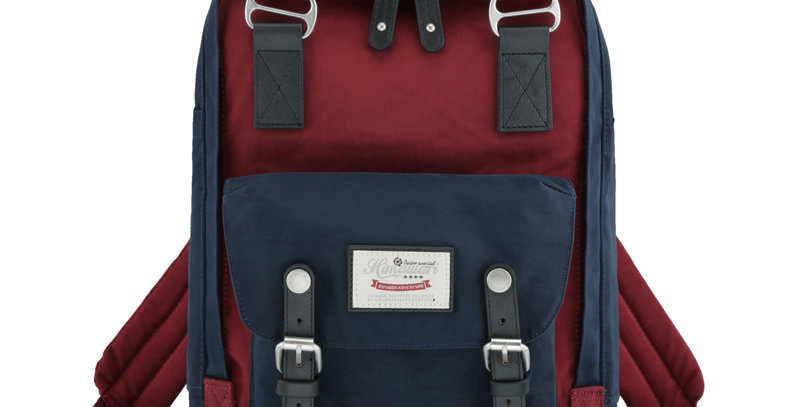 "Himawari Buttercup 14"" Laptop Backpack(HM188L-33)-Navy/Wine Red"