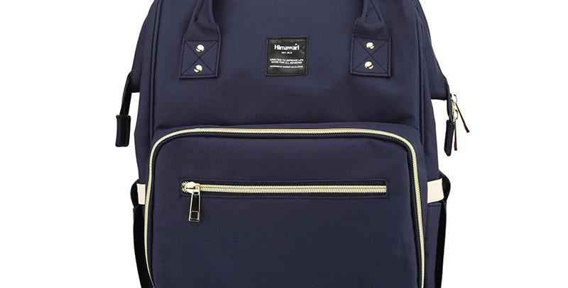 Himawari Carnation Diaper Backpack(1209)-Navy