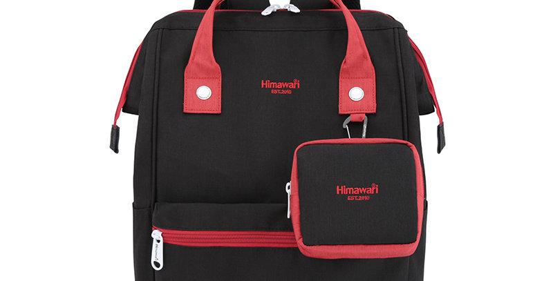 """Himawari Petunia 15"""" Laptop Backpack(2269)-Black/Red"""