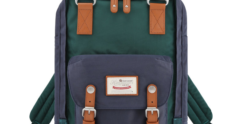 "Himawari Buttercup 14"" Laptop Backpack(HM188L-50)-Navy/Dark Green"