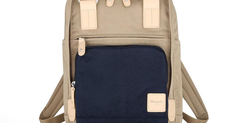 """Himawari Daphne 13"""" Laptop Backpack PB(187-01)-Navy Tan"""