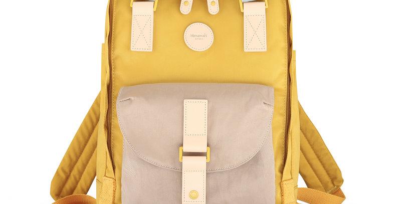 """Himawari Dianella 14"""" Laptop Backpack (200)-Tan/Yellow"""
