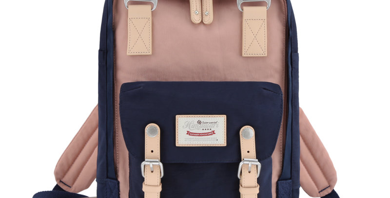 "Himawari Buttercup 14"" Laptop Backpack(HM188L-54)-Navy/Cute Pink"