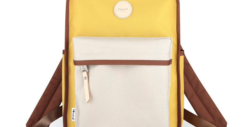 "Himawari Mallow 14"" Laptop Backpack(0827)-Cream/Yellow"