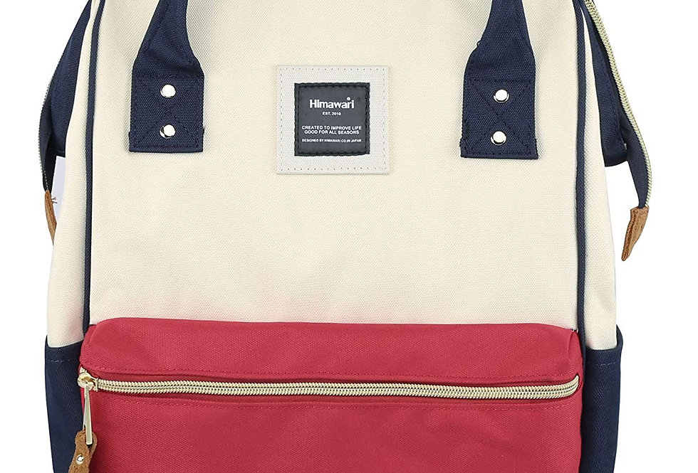 "Himawari Holly 15"" Backpack(H900D)-Red/White/Navy"