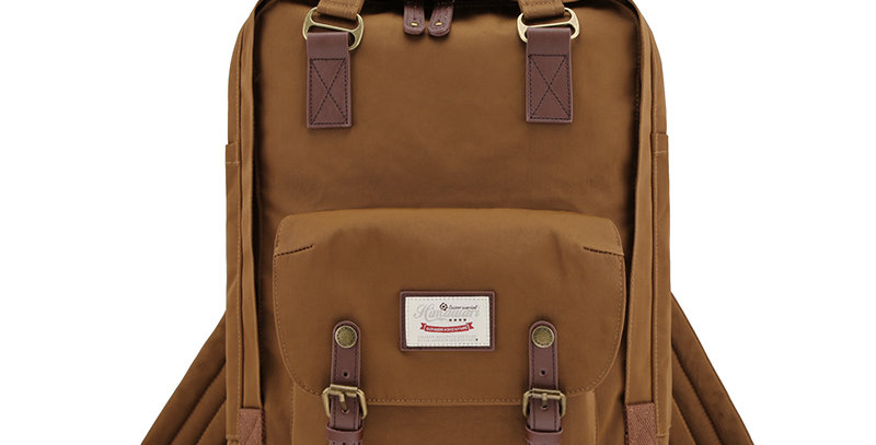 "Himawari Buttercup 17"" Laptop Backpack(HM188XL-53)-Coffee Brown"