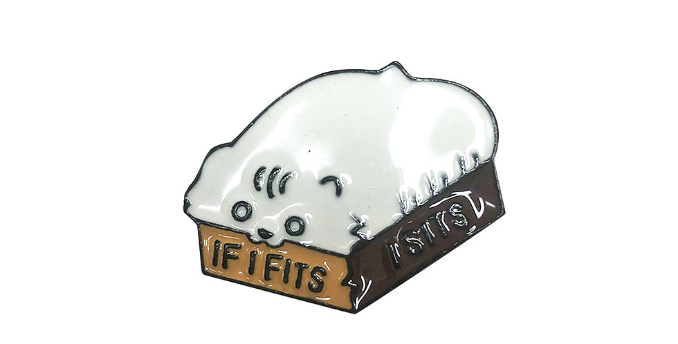 """Oversized Kitty"" Bag Pin"