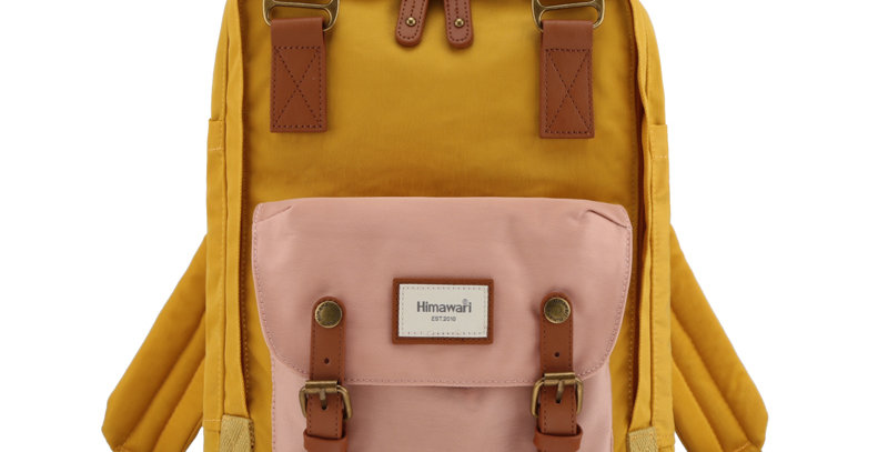 "Himawari Buttercup 14"" Laptop Backpack (HM188L-55)-Cute Pink/Yellow"
