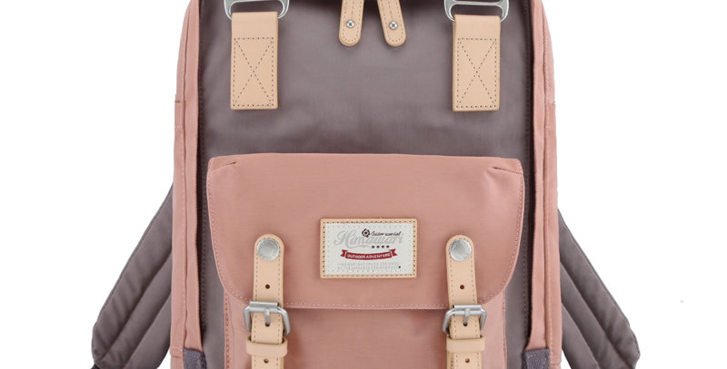 "Himawari Buttercup 14"" Laptop Backpack(HM188L-32)-Cute Pink/Mocha"