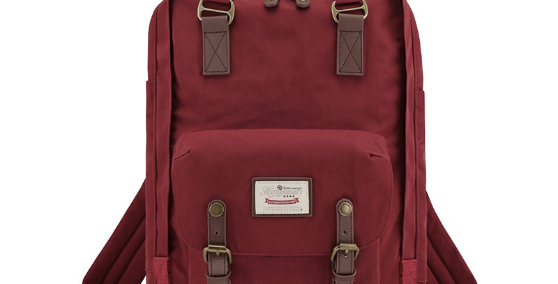 """Himawari Buttercup 17"""" Laptop Backpack(HM188XL-27)-Wine Red"""