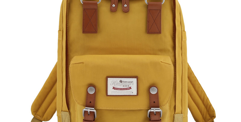 "Himawari Buttercup 14"" Laptop Backpack(HM188L-49)-Yellow"