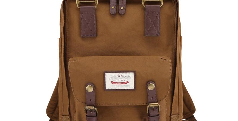 """Himawari Buttercup 14"""" Laptop Backpack(HM188L-53)-Coffee Brown"""