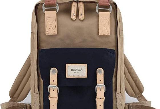 "Himawari Buttercup 14"" Laptop Backpack(HM188L)-Navy/Tan"