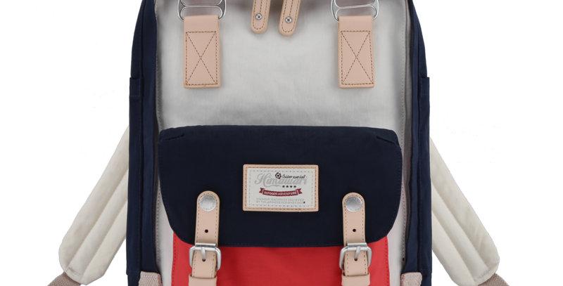 "Himawari Buttercup 14"" Laptop Backpack(HM188L-44)-Red/Navy/Cream"