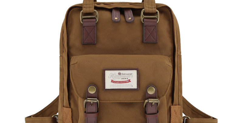 "Himawari Buttercup 11"" Laptop Backpack(HM188S-53)-Coffee Brown"