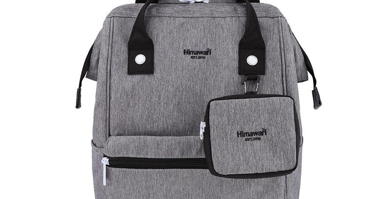 """Himawari Petunia 15"""" Laptop Backpack(2269)-Gray/Black"""