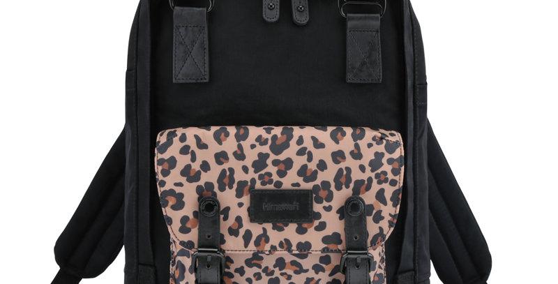 "Himawari Buttercup 14"" Laptop Backpack(HM188L-62)-Leopard/Black"