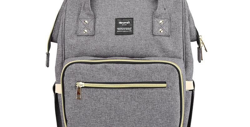 Himawari Carnation Diaper Backpack(1209)-Stone Gray