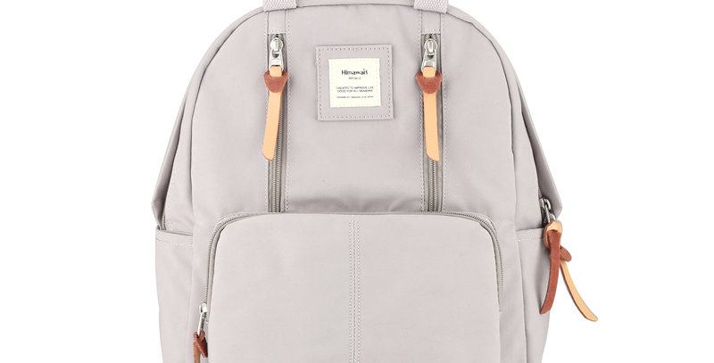 "Himawari Freesia 14"" Laptop Backpack (186)-Pink Gray"