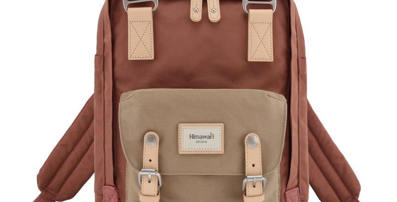 """Himawari Buttercup 14"""" Laptop Backpack(HM188L-58)-Tan/Old Rose"""