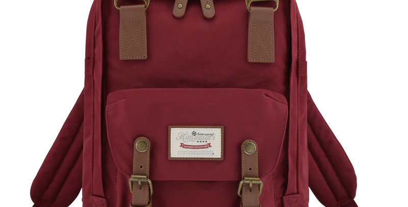 "Himawari Buttercup 14"" Laptop Backpack(HM188L-27)-Wine Red"