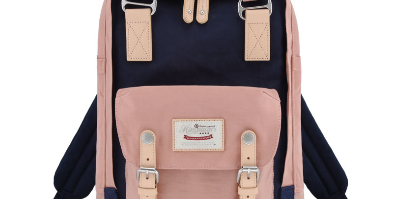 "Himawari Buttercup 14"" Laptop Backpack(HM188L-41)-Cute Pink / Navy"