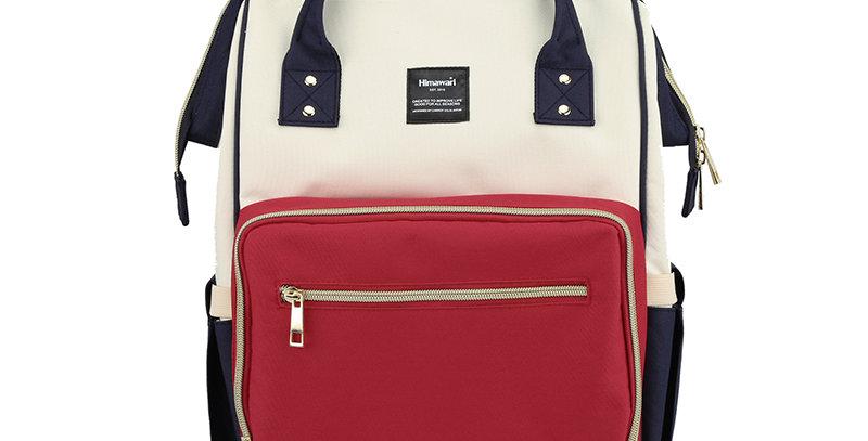 Himawari Carnation Diaper Backpack(1209)-Red/White/Navy