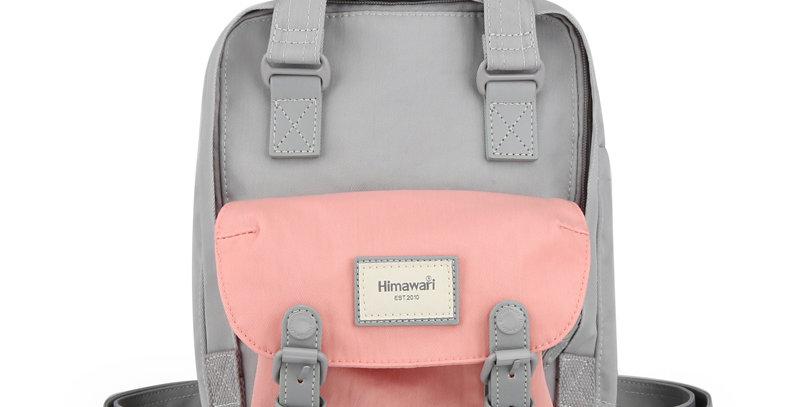 """Himawari Buttercup 11"""" Laptop Backpack(HM188S)-Cute Pink / Gray"""